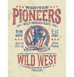Western pioneers rodeo vector