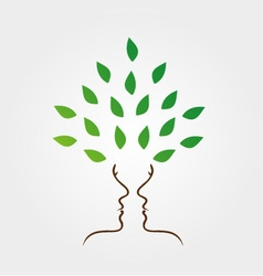 Faces forming a tree vector image