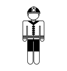 fireman avatar character icon vector image