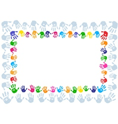 Hand paint print frame vector image vector image