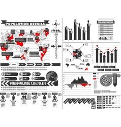 INFOGRAPHIC DEMOGRAPHICS 2 vector image vector image