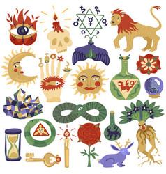 magic tattoo set vector image vector image