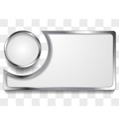 Metal silver frame background vector image