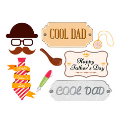 set of greeting cards and posters happy fathers vector image