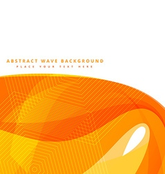 abstract background with yellow wave shapes vector image vector image