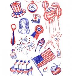 America doodles vector image