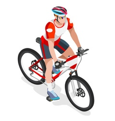 Cycling mountain bike 2016 sports 3d isometric ill vector