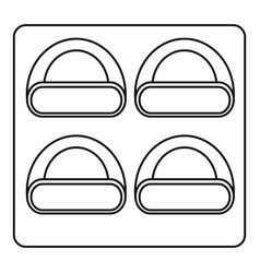 different sushi icon outline style vector image
