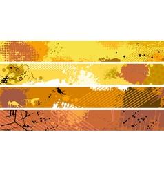 Grunge Orange Banner Set vector image