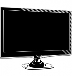 vector monitor vector image vector image