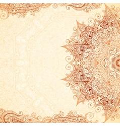 Vintage hand-drawn background vector image