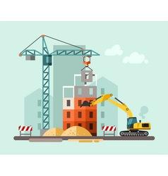 Construction site building a house vector image
