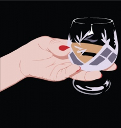 crystal glass vector image vector image