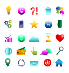 internet color symbols for web site design vector image vector image