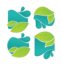 leaves and waters vector image vector image