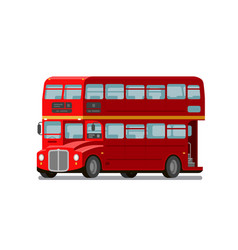 london double-decker red bus england symbol vector image