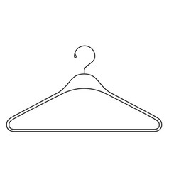 monochrome silhouette of clothes hanger icon vector image