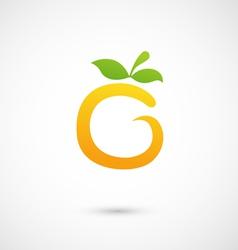 Orange Icon - alphabet shape O vector image