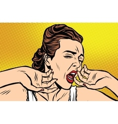 retro woman yawning in the morning vector image