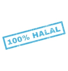 100 percent halal rubber stamp vector