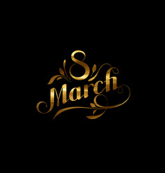 8 of march vector