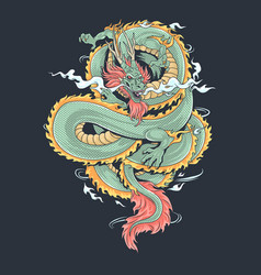 A dragon that looks fierce and cool vector