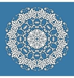 Abstract circle floral ornamental border Lace vector