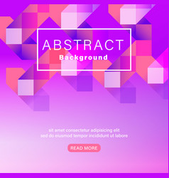 abstract geometric shape vivid neon color magenta vector image