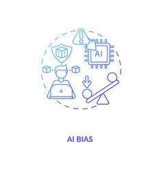 Ai bias concept icon vector