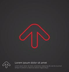 arrow outline symbol red on dark background logo vector image