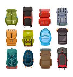 Backpacks trekking back pack travel bags vector