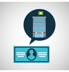 Bank concept service bill dollar vector