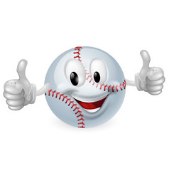 Baseball ball mascot vector
