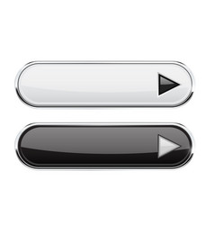 black and white buttons with arrows menu vector image