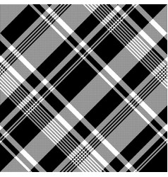 Black white pixel fabric texture seamless pattern vector