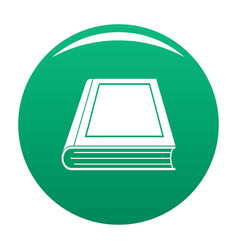 book closed icon green vector image