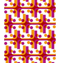 Bright dotted seamless pattern with red and yellow vector