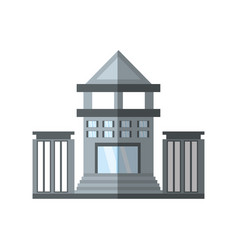 building bank commerce shadow vector image