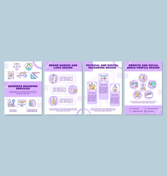 Business branding services brochure template vector