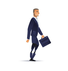 Businessman with artificial vector