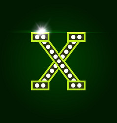 Casino and resort letter x luxury letter vector