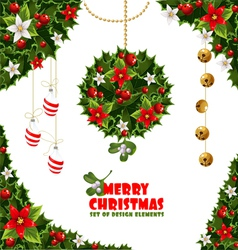 Christmas Design Elements Background vector image