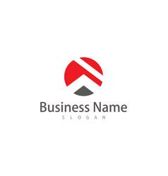 Circle roof company logo vector