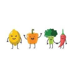 color fun vegetable vector image