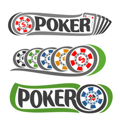 colorful poker chips vector image