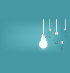 creative of isolated light bulbs on vector image