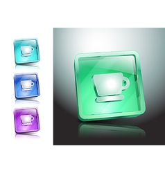 cup icon coffee button drink vector image