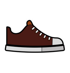 Cute brown shoe cartoon vector