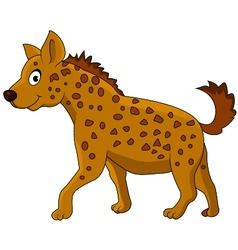 Cute Hyena Cartoon vector image