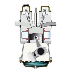 Diesel induction stroke vector